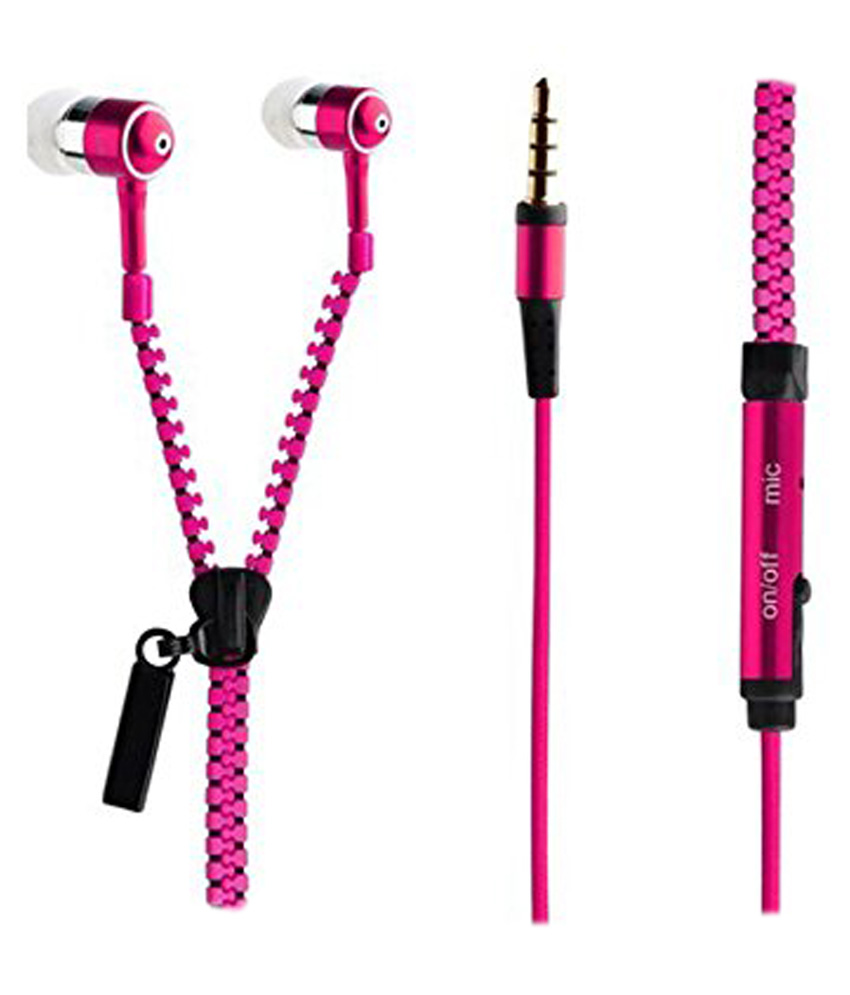 Spider Designs SDM-59 In Ear Wired Earphones With Mic Pink Review ...